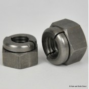 Aerotight Self-Locking Nuts, Metric, Stainless Steel