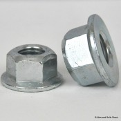 Coneloc Flange Self-Locking Nuts, Metric, Steel
