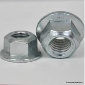 Coneloc Flange Self-Locking Nuts, Metric Fine, Steel