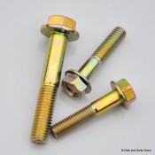 Flange Hex Bolts, Imperial, UNC