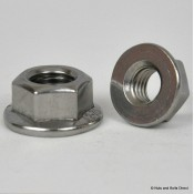 Flange Plain Nuts, Metric, Stainless Steel