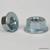 Flange Plain Nuts, Metric, Steel