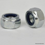 Nylon Insert Self-Locking Nuts, Metric, Steel