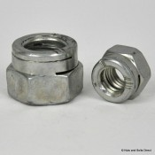 Snep Turret Self-Locking Nuts, Metric, Steel